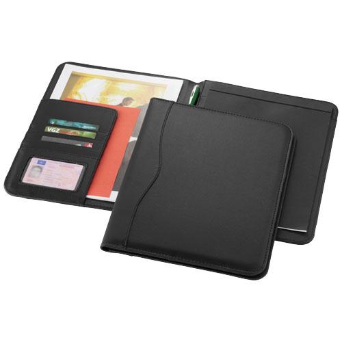 Ebony A4 portfolio in black-solid