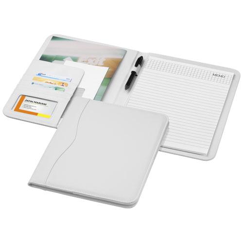 Ebony A4 portfolio in white-solid