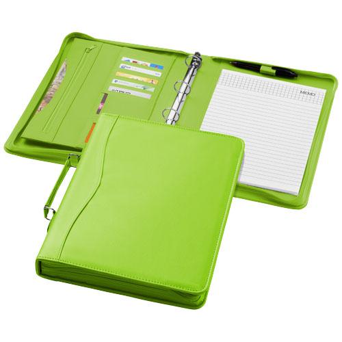 Ebony A4 briefcase portfolio in apple-green