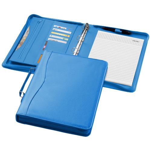 Ebony A4 briefcase portfolio in aqua-blue