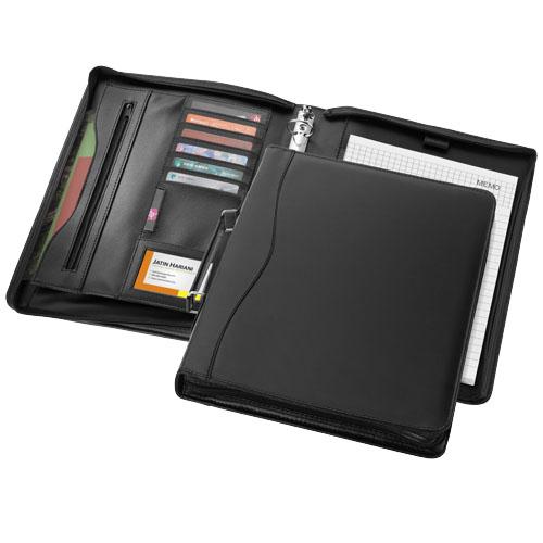 Ebony A4 briefcase portfolio in black-solid