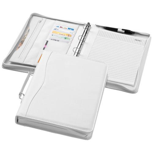 Ebony A4 briefcase portfolio in white-solid