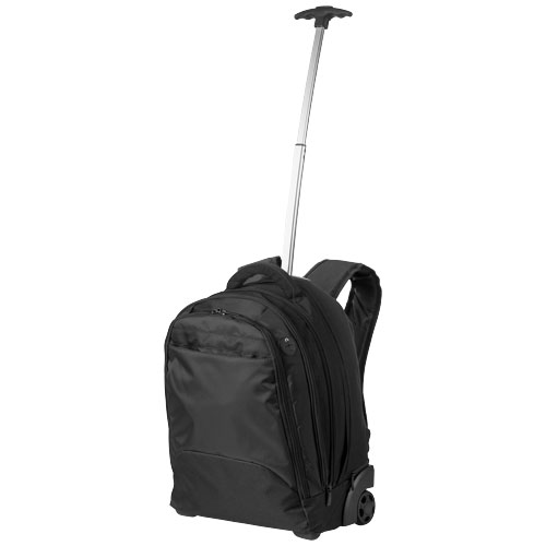 Lyns 17'' laptop trolley backpack in black-solid