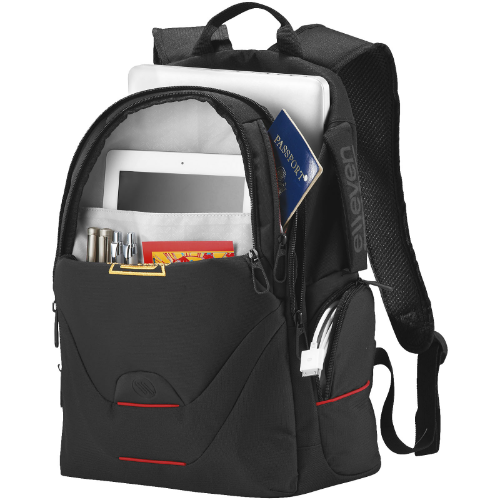 Motion 15'' laptop backpack in black-solid