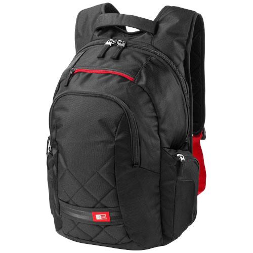 Felton 16'' laptop backpack in black-solid