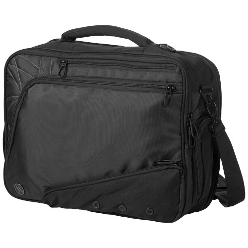 Vapor checkpoint friendly 17'' laptop attaché in black-solid
