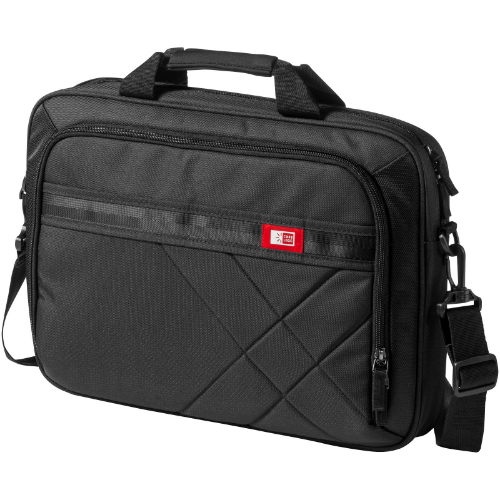 Logan 15.6'' laptop and tablet case in black-solid