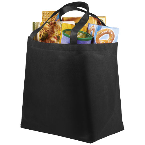 Maryville non-woven shopping tote bag in black-solid