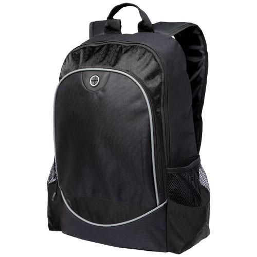 Benton 15'' laptop backpack with headphone port in grey