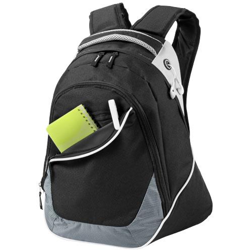 Dothan 15'' laptop backpack in black-solid