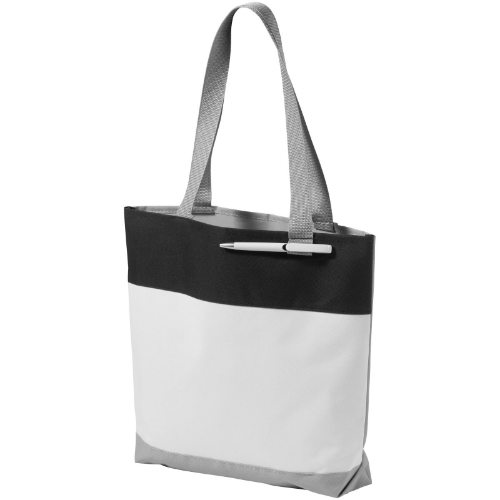 Bloomington colour-block convention tote bag in white-solid-and-royal-blue