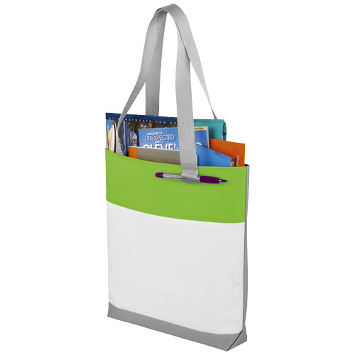 Bloomington colour-block convention tote bag in lime