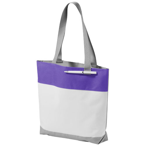 Bloomington colour-block convention tote bag in white-solid-and-purple