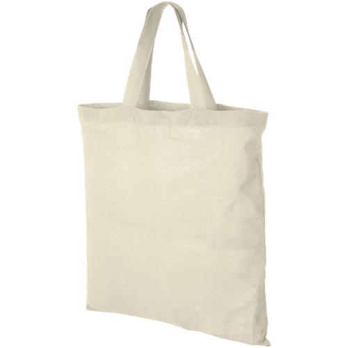 Virginia 100 g/m² cotton tote bag short handles in natural