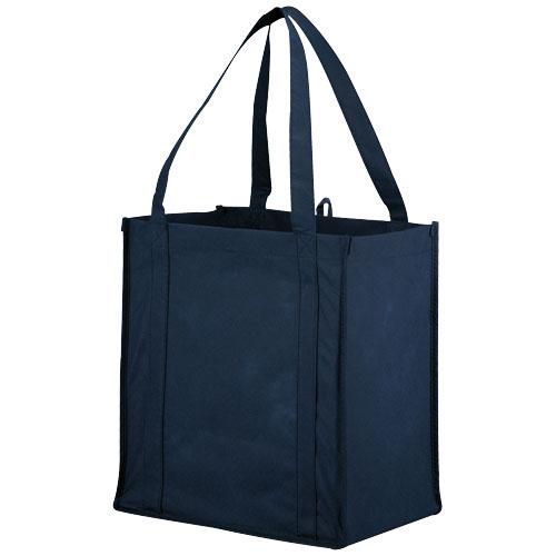 Juno small bottom board non-woven tote bag in navy