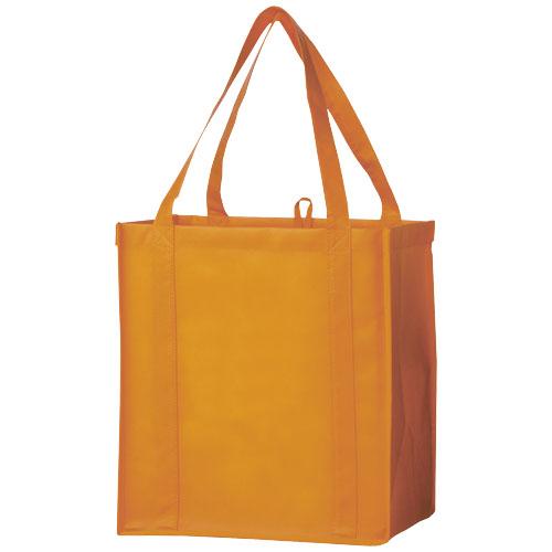 Juno small bottom board non-woven tote bag in orange