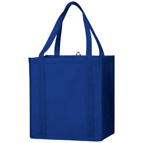 Juno small bottom board non-woven tote bag in royal-blue