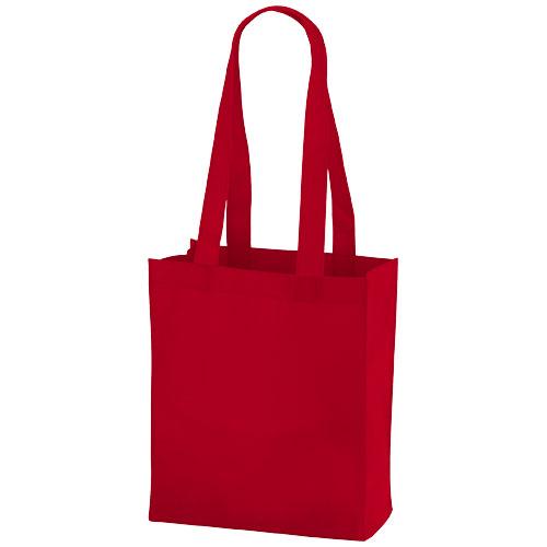 Mini Elm non-woven tote bag in red