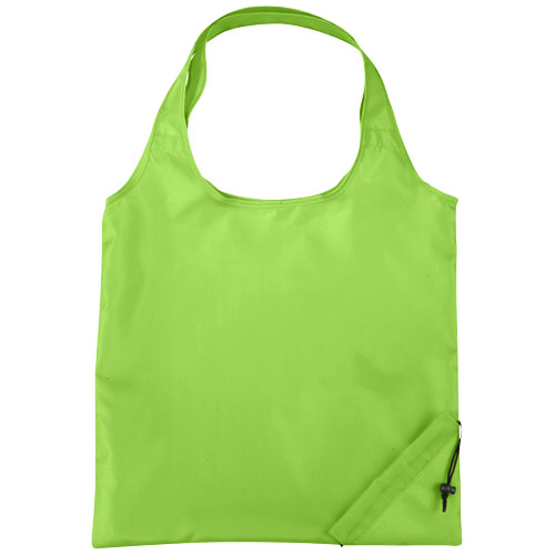 Bungalow foldable tote bag in lime