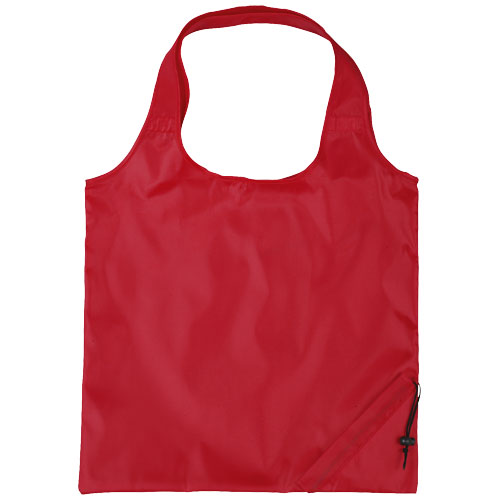 Bungalow foldable tote bag in red