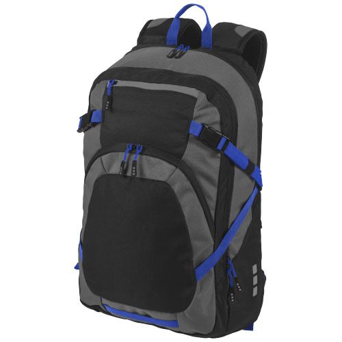 Milton 14'' laptop backpack in black-solid-and-grey