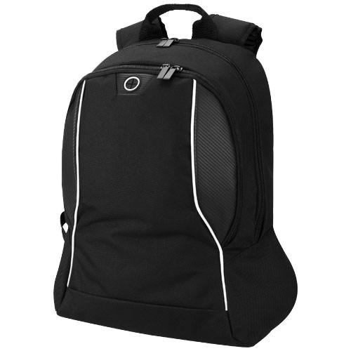 Stark-tech 15.6'' laptop backpack in black-solid