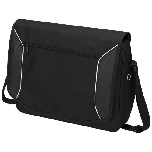 Stark-tech 15.6'' laptop messenger bag in black-solid