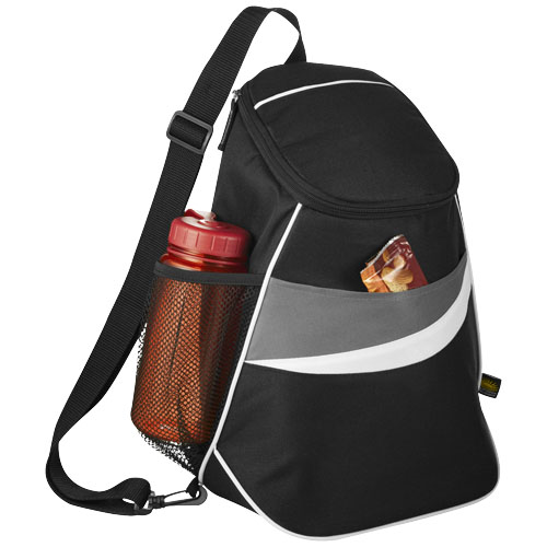 12-Can Cooler Sling in black-solid-and-grey