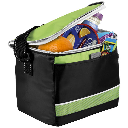 Levy sports cooler bag in black-solid-and-green