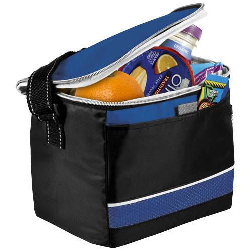 Levy sports cooler bag in black-solid-and-royal-blue