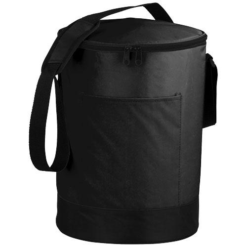 Bucco barrel cooler bag in black-solid