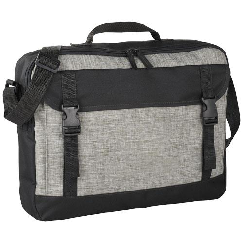 Buckle 15.6'' laptop briefcase in grey