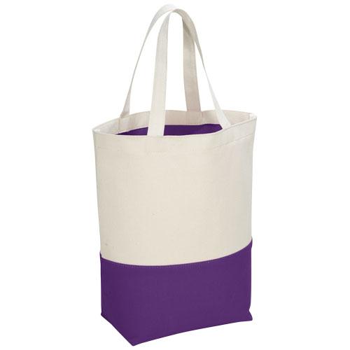 Colour-pop 284 g/m² cotton tote bag in purple