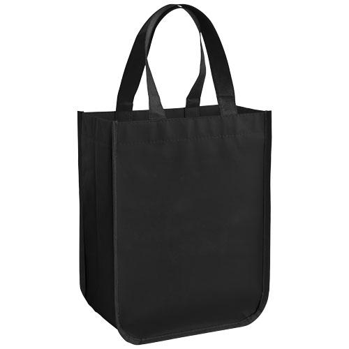 Acolla Small Laminated Shopper Tote in black-solid