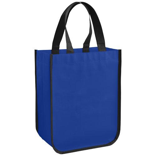 Acolla small laminated shopping tote bag in royal-blue
