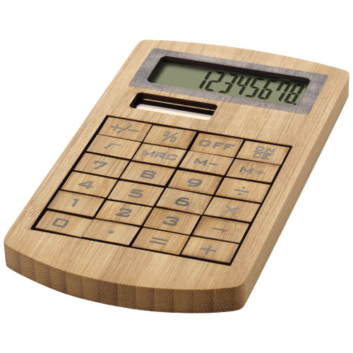 Eugene calculator made of bamboo in brown