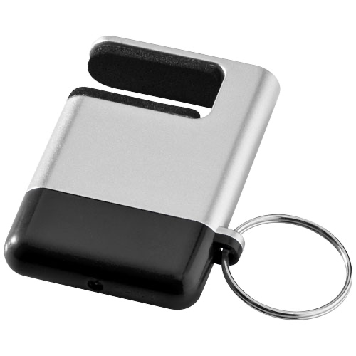 Gogo screen cleaner and smartphone holder in silver-and-white-solid