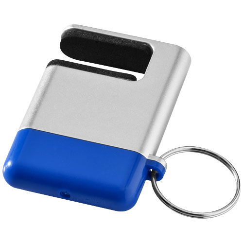 Gogo screen cleaner and smartphone holder in silver-and-blue