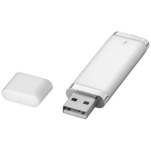 Flat 4GB USB flash drive in silver