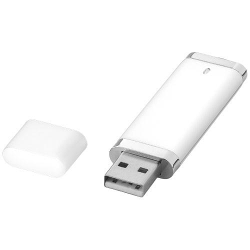 Flat 4GB USB flash drive in white