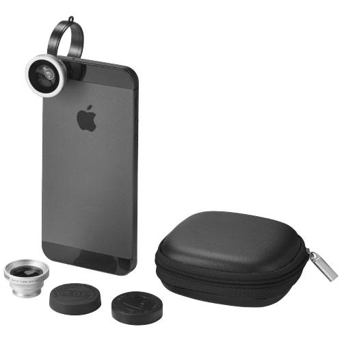 Prisma smartphone camera lenses set in black-solid
