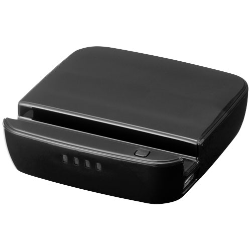 Forza power bank and smartphone stand 2200mAh in black-solid