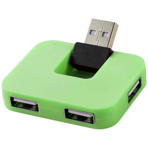 Gaia 4-port USB hub in green