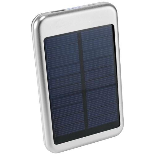 Bask 4000 mAh solar power bank in silver