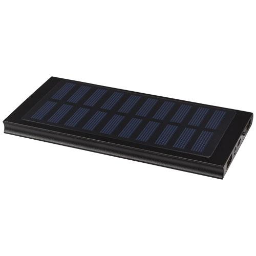 Stellar 8000 mAh solar power bank in black-solid