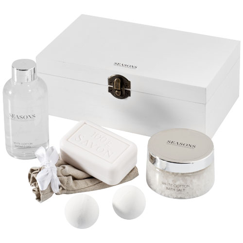 Winston bath set in white-solid