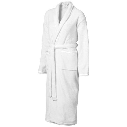 Bloomington ladies bathrobe in white-solid