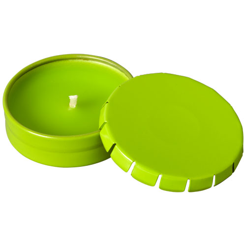 Bova scented candle in tin in lime