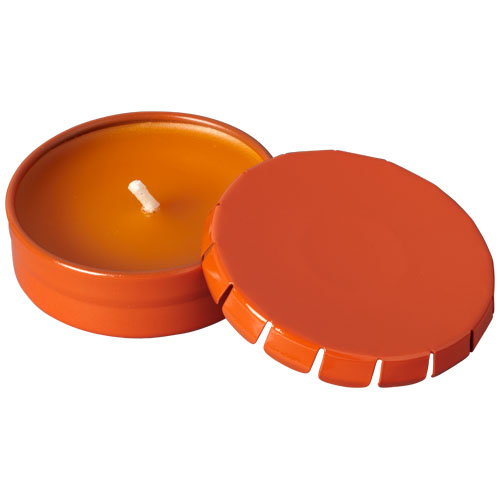 Bova scented candle in tin in orange