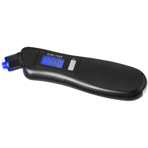 Shines 3-in-1 tyre gauge with LED light in black-solid